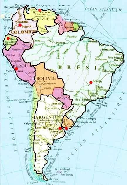 Favori Carte Amérique du sud AP36